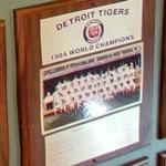 1984 World Series Champions plaque: Detroit Tigers