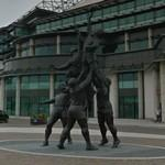 Rugby union sculpture (StreetView)