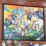 Dallas Cowboys vs. Buffalo Bills painting (StreetView)
