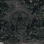Star in a park (Google Maps)