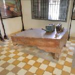 Waterboard displayed at Tuol Sleng.