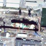 Ship in drydock (Google Maps)