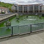 Former drydock converted to a pond (StreetView)