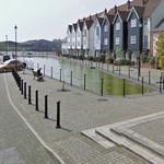 Former drydock converted to a residential pond (StreetView)