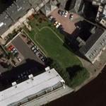 Former drydock outlined (Google Maps)