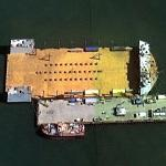 Heavy Lift Submersible Barge Used As Drydock (Google Maps)