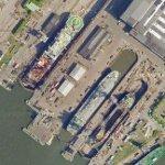 Ships in drydock (Google Maps)