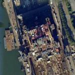 Drydock with oil rig (Google Maps)