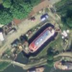 Boat in canal drydock