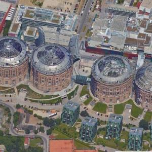Gasometers in Vienna (Google Maps)