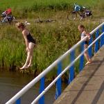 Jumping from the bridge (StreetView)