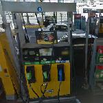 Google Car goes to a Gas Station