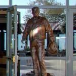 Statue of Ronald Reagan as cowboy (StreetView)