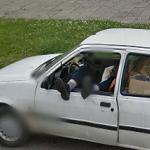 Sleeping in the car (StreetView)