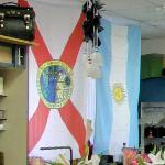 Flags of Argentina & Florida (StreetView)