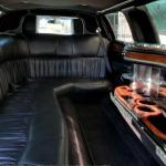 Inside a stretch limo