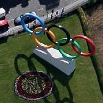 Olympic rings (Google Maps)