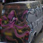 Octopus graffiti on van (StreetView)