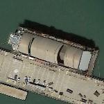 Sea Shadow (IX-529) & HMB-1 Floating Drydock (Google Maps)