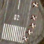 C-101 Aviojet Trainers Assemble Upon Landing