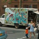 Graffiti on truck (StreetView)