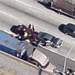 Santa Ana Freeway car accident (Google Maps)