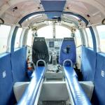 Inside a skydiving airplane