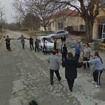 Dancing on the street (StreetView)