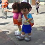 Dora the Explorer and Diego (StreetView)