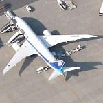 This 787 had to cancel a flight due to battery problems (JA-808A) (Google Maps)