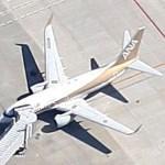 "Boeing 737 ""Gold Jet"" (Google Maps)"