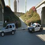 Car Pulled over by Airport Police at LAX (StreetView)