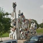 'Monmument au Fantome' by Jean Dubuffet (StreetView)