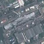 INS Viraat in drydock (Google Maps)