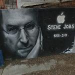 Steve Jobs mural (StreetView)