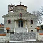 Orthodox church in a Greek village in Hungary