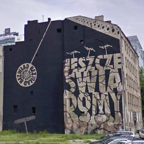 Mural On An Abandoned Building In Warsaw, Poland (Google Maps