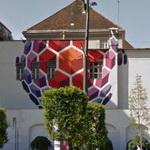 Mural on the wall of a fire station (semi finished) (StreetView)