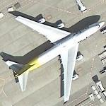 Boeing 747 in DHL/Polar hybrid livery (Google Maps)