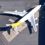 Boeing 747 in DHL/Kalitta hybrid livery (Google Maps)