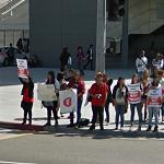 Protesting school layoffs (StreetView)