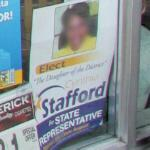 Cynthia Stafford political campaign poster