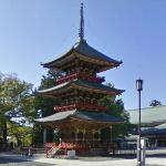 Three-storied pagoda at Narita-san Shinshō-ji (StreetView)