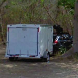 Google Car and Trailer at Codz Poop Palace (StreetView)