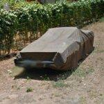 Car under cover (StreetView)