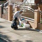 Taking out the trash (StreetView)