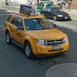 Yellow taxi cab