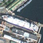 LNG carrier in dry dock (Google Maps)