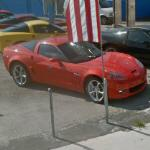 Red Corvette (StreetView)