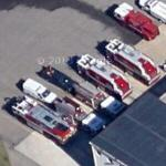 Pope AFB fire trucks